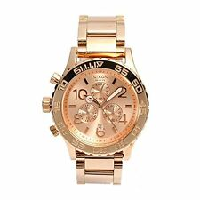 Nixon Chrono Rose Dial Stainless Steel Quartz Womens Watch A037-897