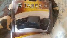 Original TASER BOLT TASER C2 Black LEATHER Hard Case With WHITE STICHING new
