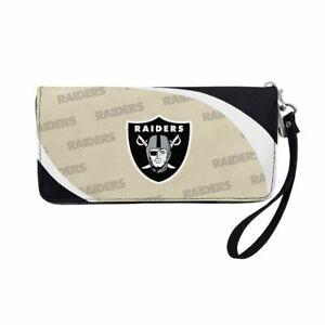 Las Vegas Raiders NFL Curve Zip Organizer Ladies Wallet