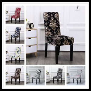 UK Universal Stretch Solid Color Dining Chair Covers Seat Slipcover Party Decor