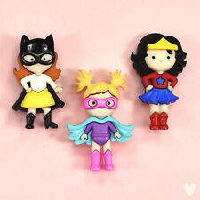 DRESS IT UP Buttons Girl Power 10411 Batman Superman Batgirl Wonder Woman