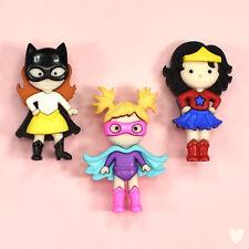 Dress It Up Botones Girl Power 10411 Batman Superman Batgirl Wonder Woman