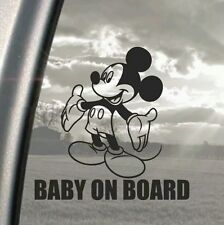MICKEY MOUSE BABY ON BOARD CAR WINDOW VINYL STICKER DECAL