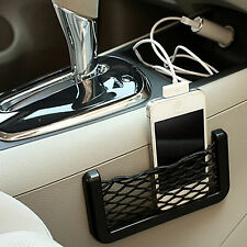 Car Storage Box Net Organizer Seat Side String Phone Holder Pockets Pouch