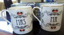 Sealed Nib Halcyon Days Fine Bone China Mr & Mrs Mug Set Wedding