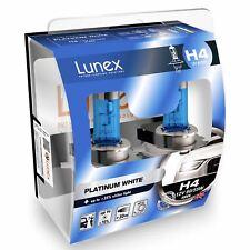 2x Lunex H4 Platinum White Halógeno + 35% de luz blanca 4000k