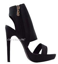 Women Gladiator Ankle Strap High Heel Booties Platform Wedge Sandals Shoes