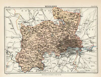 Antique Map Of Middlesex London 1880