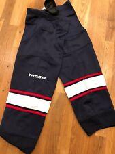 "Nwt Tron ice hockey shin sock navy with white/red stripe 30"""