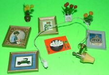 LUNDBY - CAROLINES HOUSE DOLLS HOUSE MINIATURES MIXED LOT PICTURES 4 X 3 cm