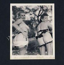 NUDE WOMEN'S OUTDOOR FUN / NACKTE FRAUEN HABEN SPASS * Vintage 50s US Photo #10