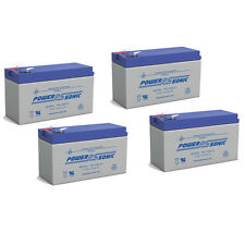 Power-Sonic 4 Pack - 12V 9AH SLA UPS Battery for APC RBC8 RBC23 RBC24 RBC25 RBC3