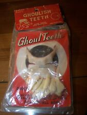 Bengor's Plastic Ghoulish Teeth vintage 1960's costume apparel in OP