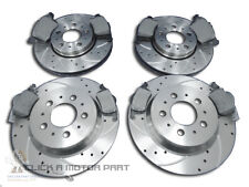VOLVO V70 FRONT & REAR DRILLED GROOVED BRAKE DISCS & MINTEX PADS SET CHECK SIZE