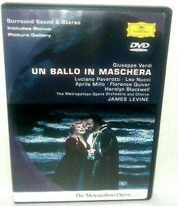 Verdi Un Ballo In Maschera DVD 2002 Deutsche Grammophon Met Opera Pavarotti