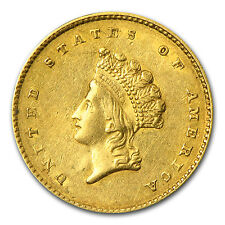 $1 Indian Head Gold Coin - Type 2 - Random Year - Extra Fine - SKU #59289