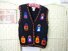 Disfraz Halloween Candy Cardigan Vintage Puente feo Algodón Ramio Truco tratar L