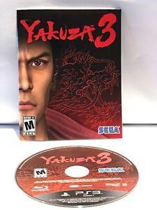 Yakuza 3 (Sony PlayStation 3, 2010) Complete