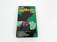Freddy's Nightmares The Series It's My Party & You'll Die If I Want You To VHS