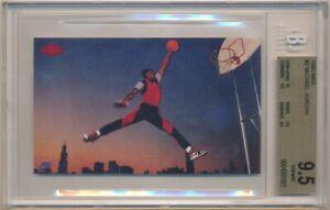 MICHAEL JORDAN 1985 NIKE #2 RC ROOKIE CHICAGO BULLS BGS 9.5 TRUE GEM MINT W/ 10