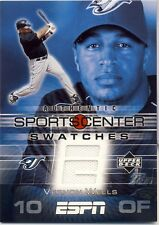 05 UD ESPN Vernon Wells Game Used Sportcenter Swatch Game-Used Jersey Blue Jays