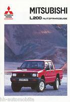 Mitsubishi L 200 Prospekt Nutzfahrzeuge 1995 2/95 brochure Pick-up prospectus
