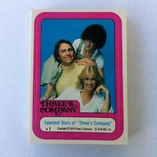 1978 TOPPS THREE'S COMPANY STICKER SET 44*MINT FROM VENDING!!! FREE SHIPPING