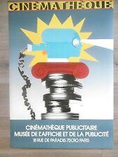 RAZZIA Affiche originale Cinéma Cinémathèque Pellicule Caméra Vertov 1982 poster
