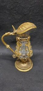 Antique Gilt Bronze And Glass Rococo Decanter 19th century