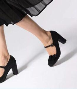 BRS* Chie Mihara Womens Kinoa Black Heels SIZE EU 38