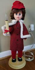 "Vintage 1989 Rennoc Animation Holiday Boy Figure Christmas Lighted Animated 24"""