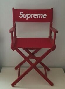 SS19 Supreme x Gold Medal Director's wooden chair red foldable