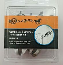 Gallagher Combination Strainer Termination Kit 2 Pack Electric Fence G618004 New