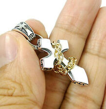 SMALL GOLD CHAIN CROSS 925 STERLING SILVER PENDANT NEW