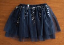 Justice Girls 8 NWT Navy Blue Tiered Sequin Tulle Ruffle Skirt Attached Shorts