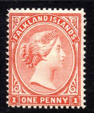 Falkland Islands: 1891 QVI 1d SG 18 mint, signed