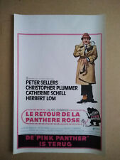 1963 The return of the Pink Panther - Belgian movie poster