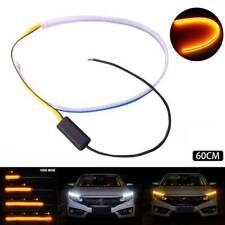 2Pcs Auto 60cm Flexible LED Car DRL Daytime Running Strip Light Soft Tube Lamps