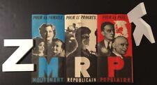 MRP Mouvement républicain Populaire Politique Affiche 1940s