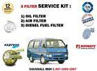 para OPEL Medio 2.4dt 4fg1-t 1995-1997 NUEVO Filtro de Aceite Aire Combustible 3