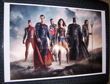 DC Comics Justice League 11X17 Movie Poster Cast Cyborg Flash Wonder Woman