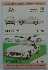 1954 MERCEDES BENZ 300SL Car Stamps (Leaders of the World / Auto 100)
