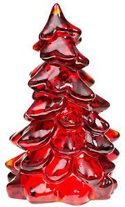 "Christmas Holiday Tree - Red Glass - Mosser USA - Large 8"""
