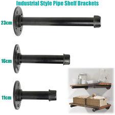 "3 Sizes 9""/6""/4"" Iron Industrial Steampunk Style Pipe Wall Shelf Brackets"