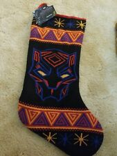 "Marvel Comics Black Panther 20"" Knit Christmas Stocking NWT"