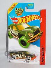 Hot Wheels 2014 Secret Regular Treasure Hunt Night Storm Off Track Olive w/ 5SPs
