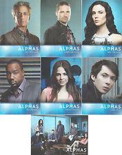 Cryptozoic Alphas Season 1 Character Bios Insert Set CB01-CB07