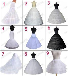 2021 Petticoat Unterrock Kleid Unterkleid Reifrock Ringe Brautkleid Weiß DE L1