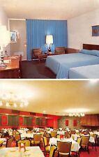Wayne New Jersey~Holiday Inn~Guest Room Interior~TV On~Dining Room~1960 Postcard