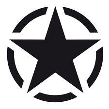 Matt Black US American Army Military Star Car Bumper Vinyl Decal Sticker Badge.